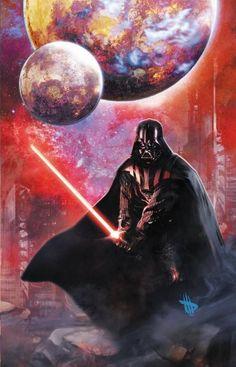 Star Wars - Darth Vader by Dave Wilkins * geeki thing, darth vader, planet, galaxies, star war, starwar, geeki stuff, cover art, dave wilkin