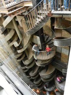 The City Museum, St. Louis .MO. Ten storie slide. So fun. And so worth the long climb up