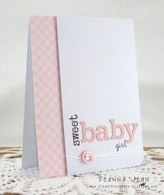 Adorable Baby Girl Card!