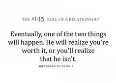 Relationship rule.