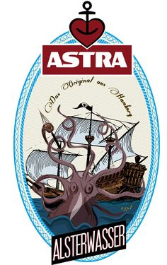 restyling Astra beer by Andrea Pagano, via Behance (oh, @maggim!)