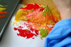 beautiful leaf prints