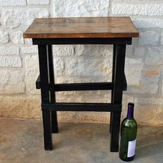 Wine Tasting side table. $60.00, via Etsy.