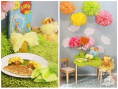 This Lorax-themed party table is amazing.