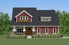 For Sale! Tell us what you think about this brand new 2-story farm #houseplan featuring 3 bedrooms and 2.5 bath? http://bit.ly/1o1IG7G