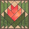 Desert Flower - Free Quilt Block Pattern