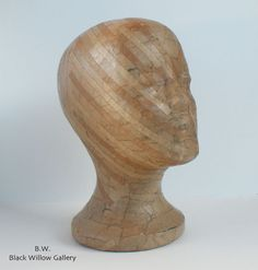 Natural Butchers Paper Mannequin Head Wig by BlackWillowGallery