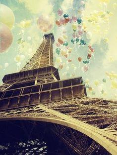 birthday, tower, color, dream, pari, travel, balloon, place, parti