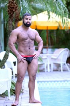 Tired of pasty-white Speedo Bears? A black beard for those who like Dark Meat...
