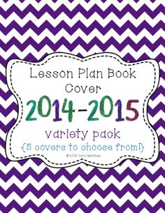Get ready for the new school year with these fun Lesson Plan Book Covers.  Just pop into a 3 ring binder cover, and you're all set. $