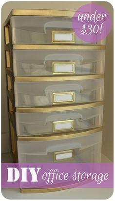 DIY Office Organization & Storage Organization at www.kelleymorrison.com