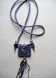 Kumihimo & micro macrame pendant by Hobo Ethos, via Flickr
