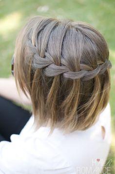 waterfall braid in short hair--cute things can still be done with short hair!!