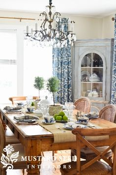 A dining room that's ready for guests.