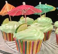 """Margarita Cupcakes: """"Excellent! I made little cocktail cupcakes, complete with a little slice of lime and white sugar as the margarita salt."""" -Leahcooks"""