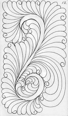 13 LuAnn Kessi: My Quilting Sketch Book......Feathers with a Tail