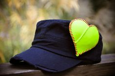 Softball Mom Heart Hat by SportzCrazyMama on Etsy, $30.00