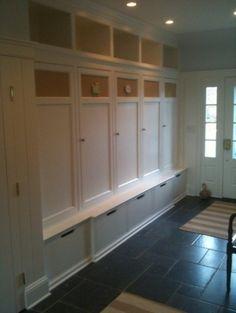 laundry room Wood Lockers with doors