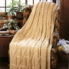 Quick Knit Royal Diagonals Afghan Knit Pattern ePattern