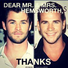 Chris Hemsworth, Liam Hemsworth, Hemsworth brothers
