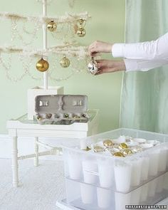 Love this idea for ornament storage.  Someday I will do this!