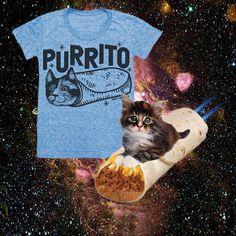 Print Liberation PURRITO cat tee!  #kitten #cat #tee #burrito