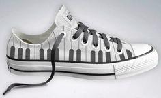 Piano Keyboard converse shoes