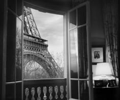 tower, window, paris photography, poster, black white