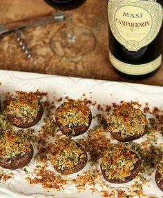 Stuffed Mushrooms and Masi Campofiorin Wine