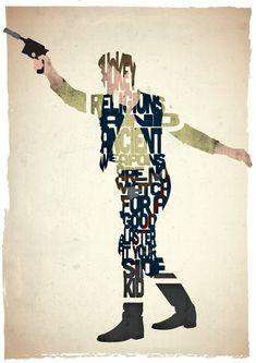 Han Solo typography print