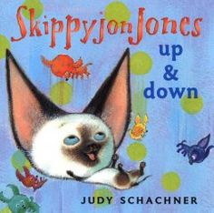 February 18 & 19, 2014. Skippyjon Jones, a Siamese kitten who thinks he's a Chihuahua, demonstrates opposite concepts, such as up and down.