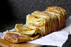 Cheddar, beer, and mustard pull-apart bread.