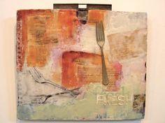 """Home and School no. 4  13x15"""" - Clare Murray Adams"""