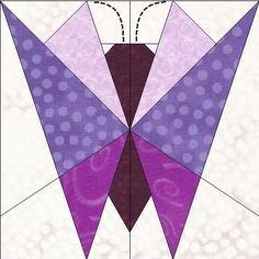 Butterfly paper pieced