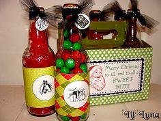 holiday, bottl, box sweet, soda box, boxes, gifts, neighbor gift, gift idea, christma