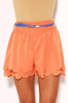 Reverse Petal Shorts w/ Belt   shopakira.com #hotpants