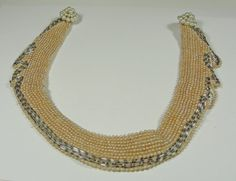 SALE Vintage Beaded Pearl Collar Necklace  50s by RetrofitStyle, $12.00