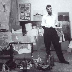Nicolas de Stael in his studio, 1954