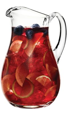 Chambord Sangria  1 Bottle Red Wine  1 cup Chambord Liqueur  1 pint Raspberries  1 whole Lemon, sliced  1 whole Orange, sliced  8 tsp Brown Sugar  Mix all ingredients in large pitcher. Cover and refrigerate overnight or for at least 4 hours. Serve on the rocks.