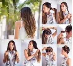 Ondas surferas, consigue este peinado sin usar calor, encuentra esta y otras opciones para ondular tu cabello, sin maltratarlo...http://www.1001consejos.com/ondas-sin-calor/