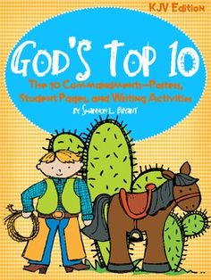 This is a resource for use in Christian or private school classrooms, children's church programs, Sunday School classes, daycares, character education, etc.  Great for teaching the 10 Commandments to kids of all ages!  Cute graphics and fonts!