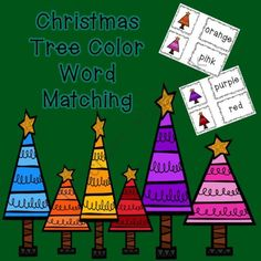 FREE Christmas Tree Color Word Matching from Relax With A Great Book on TeachersNotebook.com (7 pages)  - Color Word Matching Activity