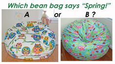 Which bean bag shouts SPRING! to you?    Please comment and SHARE!  More fun... www.ahhprods.com/bean-bag-chairs  #beanbagchairs #spring2014