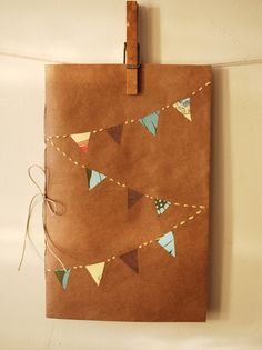 Fall Bunting Notebook (lizzimarie) - love this different colours of bunting