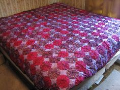 YoYo Quilt by DonnaMcshan on Etsy, $375.00 Beautiful!