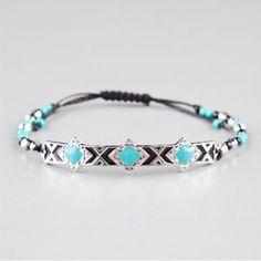FULL TILT Ethnic Plate Beaded Bracelet