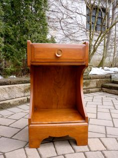 SUPER mid century ART DECO cabinet Nightstand table. $195.00, via Etsy.