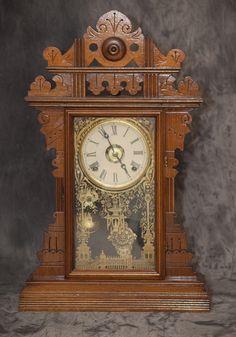 Clock Hourglass Time:  Eastlake kitchen #clock.