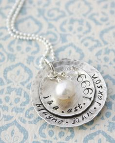 Hand Stamped Jewelry Personalized Rustic by MeaningfulMemory, $45.00