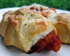 Chicken parmesan crescent rolls